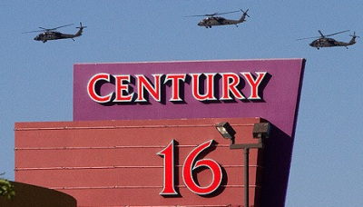 James Eagan Holmes - Aurora, Colorado movie theater - July 20, 2012 - Helicoptors over Century 16 Movie Theater